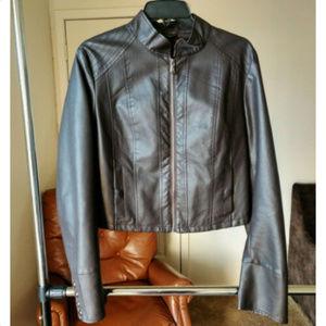 Bagatelle Women sz XL brown faux crop jacket